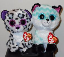 "Ty Beanie Boos - PIPER (Fox) & VIOLET (Leopard) 6"" Claires Exclusive~ 2017 NEW"
