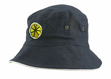 The Stone Roses 'Reni' Embroidered Lemon Bucket Hat