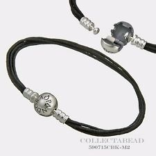 "Authentic Pandora Strling Silver Black Multi-Strand Color Cord   6.7"" 590715CBK"
