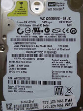 120 gb de Western Digital WD 1200 BEVS - 08ust0/fbctjhbb/may 2008-disco duro