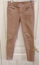 Women's American Eagle METALLIC PINK Jeggings Faded/Color Wash Size 6 Long