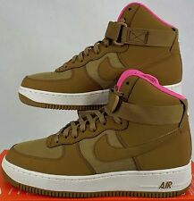 "RARE SAMPLE New Mens 9 NIKE ""Air Force 1"" Golden Tan Pink Shoes 315121-204"