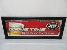 "Lot Of 2 Budweiser NFL New York Jets Mirror Bar Signs 2003 Sealed 39"" X15 1/2"""