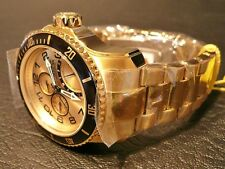 Invicta 15343 Man's Watch 18K G. Plate Pro-Diver Complication..Day, Date + 24 Hr