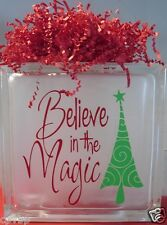 Believe in the Magic Christmas Decal Sticker for Glass Block DIY Crafts