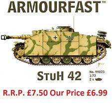 NEW Armourfast 1/72 German StuH 42 Tank  Model Kit - Contains 2 Tanks (13267)