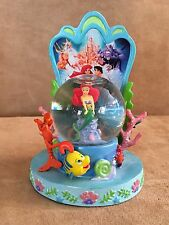 "Disney's The Little Mermaid Movie Poster Snow Globe 4"" high Parks figurine"