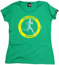 RUN TO BURN OFF THE CRAZY WOMENS T-SHIRT training birthday running runner gift