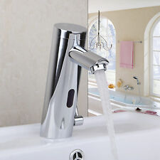 Non Touch Chrome Automatic Hands Free Sensor Faucet Bathroom Sink Tap Mixer