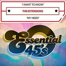 Extensions - I Want To Know / My Need (digital 45) [New CD] Manufactured On Dema