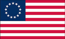 """2 qty of 3""""x5"""" Flag Decal Sticker - AMERICAN BETSY ROSS FLAG 13 STAR"""