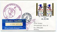 1992 Johnson Space Center Houston Tx Nassau Bay Br. US Mail Insured NASA USA