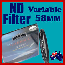 58mm Neutral Density ND filter adjustable variable ND2 to ND400 OZ stock