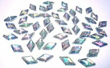 50pcs 9x15mm SEW ON AB Clear DIAMOND Acryl DIAMANTE Rhinestone Crystal Gems