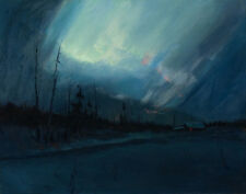 Laurence Sydney Northern Lights Canvas 16 x 20t    #3436