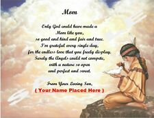 Christmas Gift / Birthday Gift for your Mom from Son Personalized Poem #41