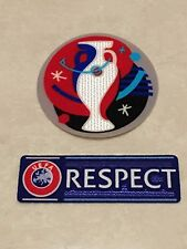 Set Of 2016 UEFA EURO Respect Patch Badge Parche Distintivo Abzeichen Flicken