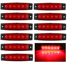 10x 12V 24V 6LED Side Marker Indicators Light Lamp Truck Trailer Lorry Clearence