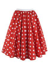 Ladies Polka Dot Skirt & Scarf  Rock & Roll 50's Fancy Dress Costume - UK STOCK