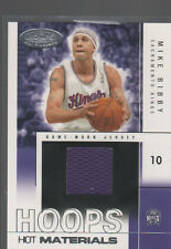 MIKE BIBBY 2004-05  HOOPS HOT PROSPECTS NBA MATERIALS JERSEY CARD #HM-MB /500