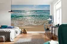 Mural de Pared Foto Wallpaper Mar playa de arena Horizonte Dormitorio Decoración 368x254cm