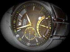 Citizen de postconsumo dual time Men 's Eco-drive br0020-52e Big date Kal. j304