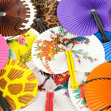 Paper Hand Fan Folding Wedding Party Favor Decoration Colorful FREE SHIP  No23U8