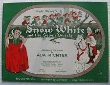 1955 Walt Disney's SNOW WHITE and The Seven Dwarfs SONG BOOK (w/ picture scenes)