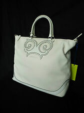 BNWT NEW VERSACE JEANS VJC EXTRA LARGE WHITE LEATHER LOOK OVERSIZE TOTE HANDBAG