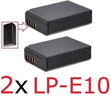 Hi Capacity 2-Pcs LP-E10 Li-Ion Battery Pack For Canon EOS Rebel T3 T5