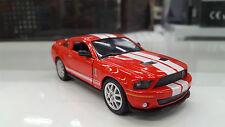 2007 SHELBY GT-500 ROSSO KINSMART giocattolo modello 1/38 scala pressofuso AUTO