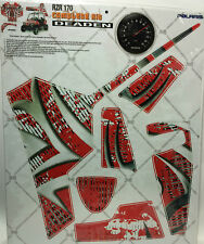 AMR Racing Graphics Kit Sale For Polaris Side By Side RZR 170 DEADEN RED
