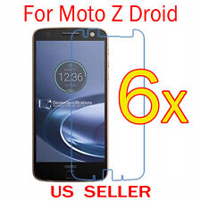 6x Clear LCD Screen Protector Guard Cover Film For Motorola Moto Z Droid