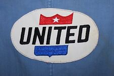 VINTAGE 1960's UNITED AIRLINES SHOP COAT JACKET INDUSTRIAL UNIFORM BACK LOGO 40