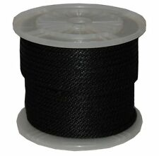 "3/8"" By 300Feet Solid Braid Propylene Multifilament Derby Rope Black"