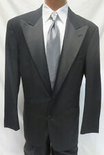 Size 40R Mens Chaps Ralph Lauren 2 Button Tuxedo Jacket w 30-32 Pants 100% Wool