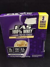 EAS 100% Whey Protein Powder Build Muscle Vanilla 3PKS FAST FREE SHIPPING!!!
