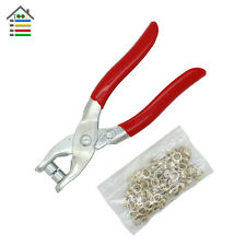 Press Eyelet Plier Punch Machine Grommet 50 Eyelets Pliers  For Colthes Leather
