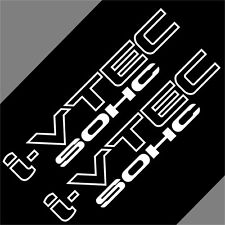 Car  I-VTEC IVTEC SOHC 10'' Truck  Vinyl sticker Side Decals 2PCS #CF716