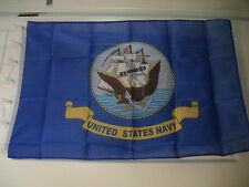 """3'X5' FLAG """"US NAVY"""" 100% POLYESTER SOLD BY A VIETNAM VET"""
