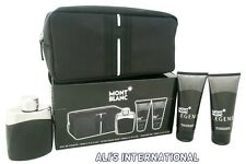 Mont Blanc Legend by Mont Blanc for Men - 4 Pc Gift Set 3.3oz EDT Spray,  3.3oz