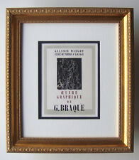 """Georges BRAQUE Gallery Maeght Exhibition Poster """"Great Graphic Work"""" Framed COA"""