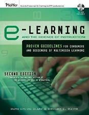 E-Learning and the Science of Instruction - Clark - New with CD Sealed Disk