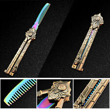 Colorful Araneid BUTTERFLY Comb Trainer Practice BALISONG Steel Dull Knife