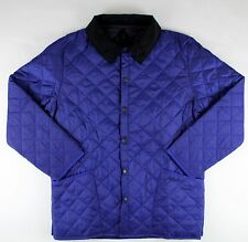 BARBOUR NAVY BLUE LIDDESDALE LIGHT BASIC JACKET COAT SIZE: LARGE
