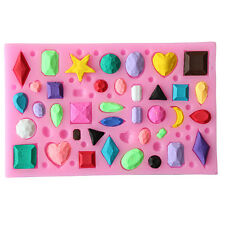 New Gem Collection Section Liquid Silicone Mold Fondant Cake Mold Kids Toy