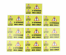 2 Stroke Fuel Mix Sticker - Warning Label - 3 Stickers per sheet PACK OF 10