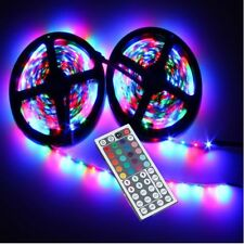 10M 3528 SMD RGB 600LEDS FLEXIBLE STRIP LIGHT +44 KEY IR REMOTE CONTROLLER 5MX2