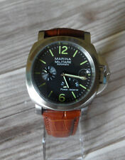 44mm Power Reserve luminous Automatic Radiomir Watch brown leather strap
