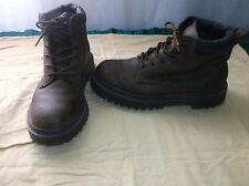 Mens size 5.5 Brown Skechers boots ankle lace up hiking work NR